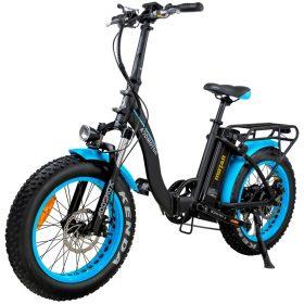Motan M-140 P7 Foldable Electric Step-Thru Bike blue