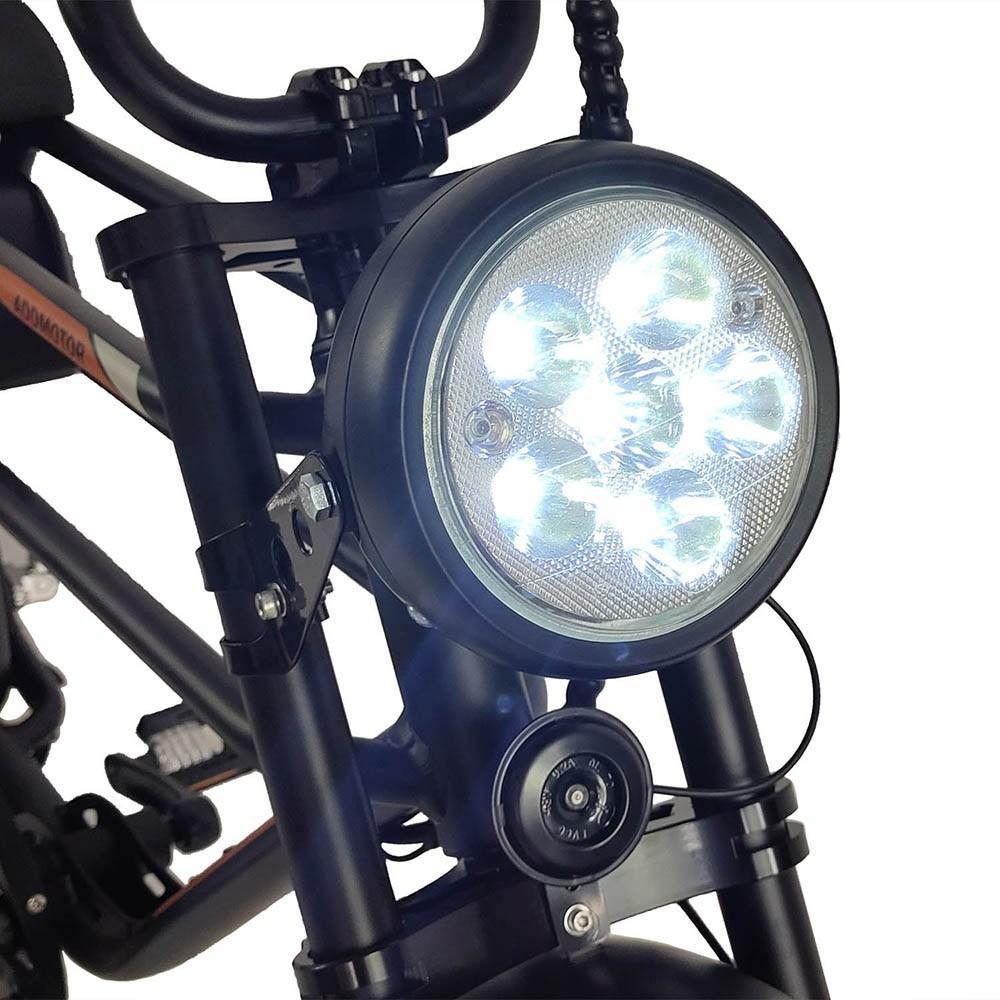 Motan M-70 Electric Beach Cruiser Bike headlight